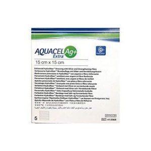 Apósito De Hidrofibra ConvaTec Aquacel Ag+ Extra De 15 X 15 CM