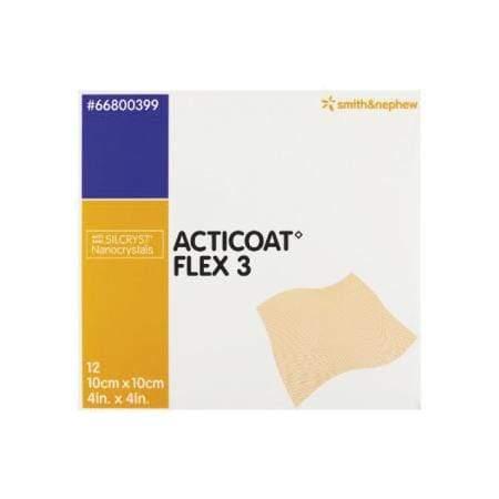 Smith & Nephew Acticoat Flex 3 Apósito Antimicrobiano Con Plata Flexible De 10 X 10 CM – 2
