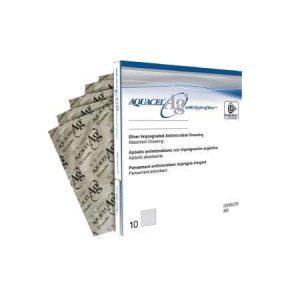 Aquacel Ag ConvaTec Apósito De Hidrofibra Con Plata Iónica De 5 X 5 CM Caja